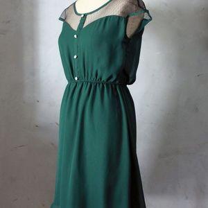 Forest Green Fleet Collection Petit Dejeuner Dress